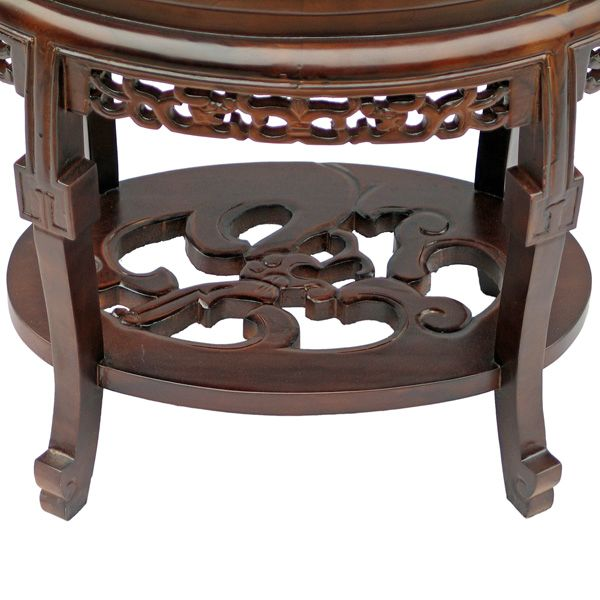 Antique style marble top coffee accent table for Antique marble coffee table and end tables